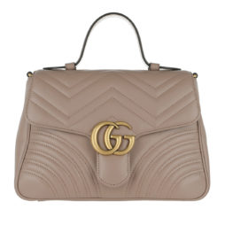 1222345f3d614 Gucci Umhängetasche – GG Marmont Small Top Handle Bag Taupe – in grau – für  Damen